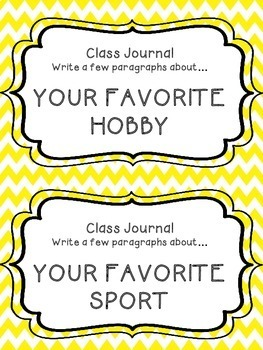 Whole Class Journal