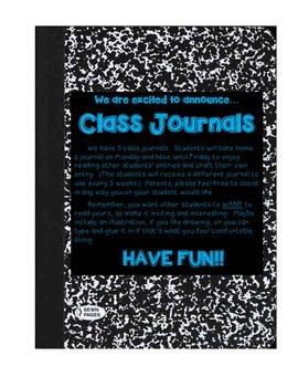 Whole Class Journal
