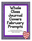 Whole Class Journal Covers-FEBRUARY PACK