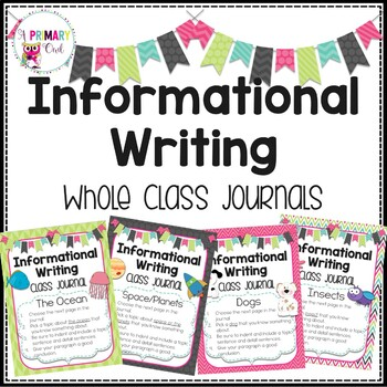 Whole Class Journal Covers: Informational Writing
