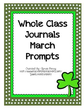 Whole Class Journal Covers-MARCH PACK