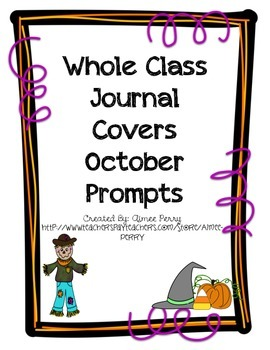 Whole Class Journal Covers-October Pack