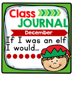 Whole Class Journal Covers for December
