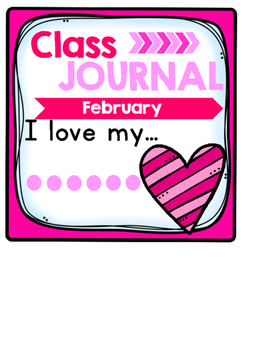 Whole Class Journal Covers for February