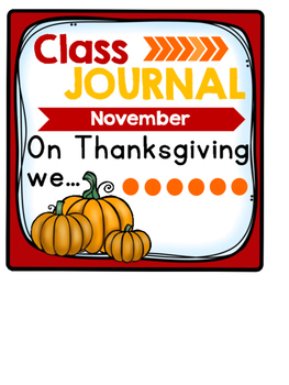 Whole Class Journal Covers for November