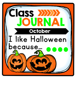 Whole Class Journal Covers for October