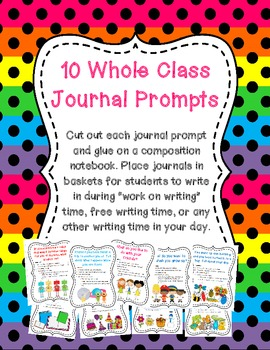 Whole Class Creative Writing Journal Covers - Set of 10
