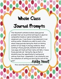 Whole Class Journal Prompt Labels