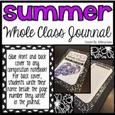 Whole Class Journal (Summer Themed)