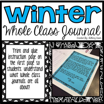 Whole Class Journal (Winter Themed)