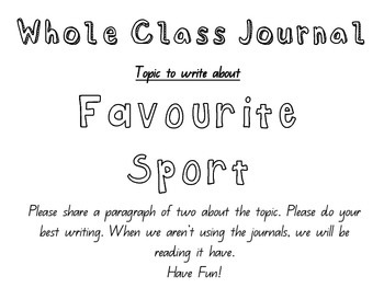 Whole Class Journal writing even reluctant writers love