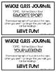 Whole Class Journals FREEBIE!