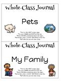 Whole Class Journals