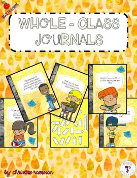 Whole-Class Journals: Back to School