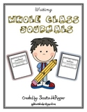 Whole Class Journals: Cover Labels with Topics and Writing Prompts
