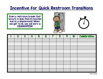 Whole Class Restroom Break Incentive Chart