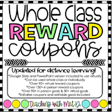 Whole Class Reward Coupons l Digital l Distance Learning