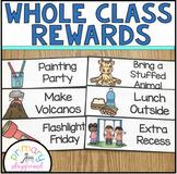 Whole Class Reward Idea Cards ~ Editable