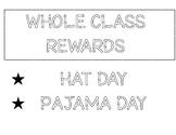 Whole Class Reward Poster