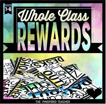 Whole Class Rewards - 95 Reward Coupons to Reward a Class for Positive Behavior!