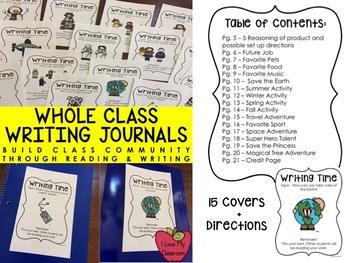 Whole Class Writing Journal Bundle