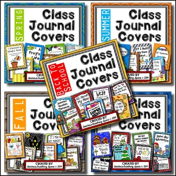 Whole Class Writing Journal Covers --- Writing Through The Year **BUNDLE**