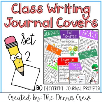 Whole Class Writing Journal Covers Set 2