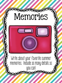 Whole Class Writing Journal Covers { Summer Edition }