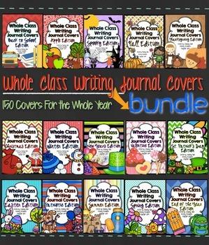 Whole Class Writing Journal Covers { THEME BUNDLE }