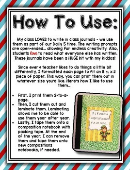 Whole Class Writing Journal Covers --- Writing Through The Year ***FREEBIE***