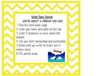 Whole Class Writing Journal- Snoopy Theme