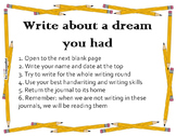 Whole Class Writing Journals - Editable