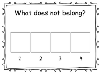 Whole Class or Small Group  Assessment Cards
