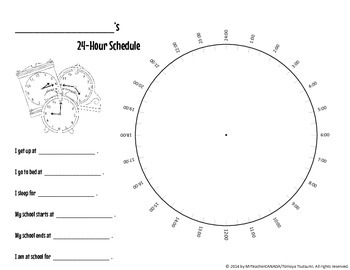 Whole Day & 24-Hour Schedule Poster Creation Package (Great for Bulletin Boards)