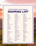 Whole Food, Plant-Based Shopping List