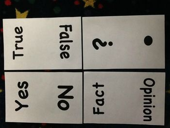 Whole Group Answer Cards
