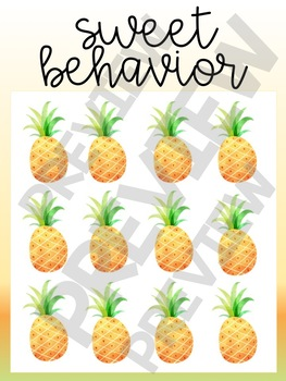 Whole Group Behavior Incentive: FRUIT