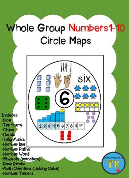 Whole Group Numbers 1-10 Circle Map
