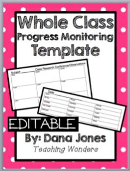 Whole Group Progress Monitoring Templates