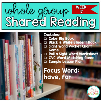 Whole Group Shared Reading Week 17