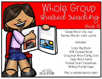 Whole Group Shared Reading Week 18