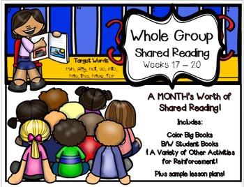 Whole Group Shared Reading BUNDLE Weeks 17-20