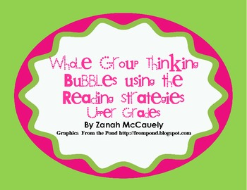 Whole Group/Guided Reading Reading Strategy Thinking Bubbles Upper