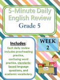 Month 1-- Daily ELA Practice--Common Core--Grade 5
