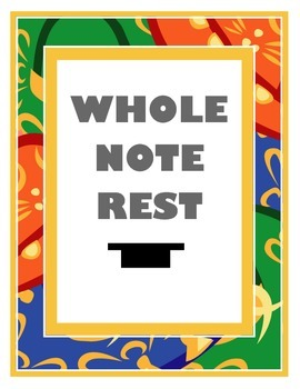 Whole Note Rest Poster