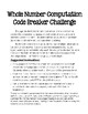 Whole Number Computation Code Breaker with PPTs