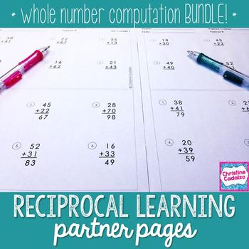Whole Number Computation Practice Partner Pages- BUNDLE