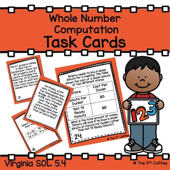 Whole Number Computation Task Cards