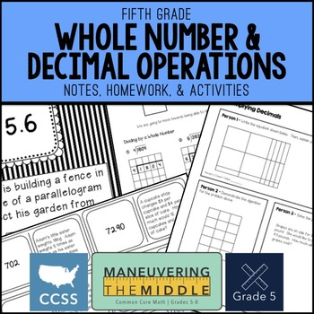 Decimals 5th Grade Unit