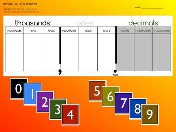 Whole Number & Decimal Place Value 5.NBT.1